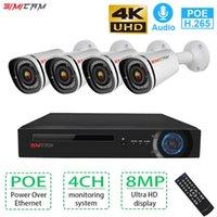 시스템 4K CCTV 비디오 감시 키트 4CH PoE NVR 8MP 옥외 방수 IP 카메라 H.265 보안 카메라 시스템 세트 Simicam