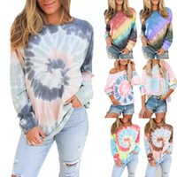 Women Loose Sweater Designer Casual Gradient Printed Long Sl...