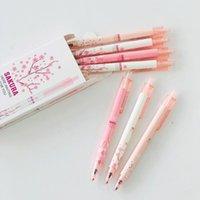 Гель Ручки 2x Свежая Sakura Цветочная Ручка Письмея Подписание Школьная Офис Поставка Канцтовары 0.5 мм Черный