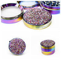 Grinder Dia 52 mm Sequin Grinders herbe sèche métal tabac Crusher fumer Grinders 4 couches Grinders Accessoires DWE1602 tuyau fumeurs