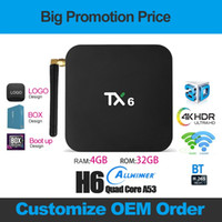 TX6 Android caixa de TV 9.0 TV BOX 4GB + 32GB Allwinner H6 Quad Dual Core Wifi 2.4G5G Com BT x96 mini-T95 inteligente