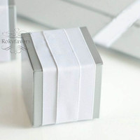 """50PCS 2"""" Square Grey Candy Boxes Wedding Favor Holders Birthday Party Sweet Table Decor Event Chocolate Package Boxes Ideas"""