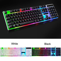 Vendita calda Computer Keyboard Retroilluminato Game Desk Tipo Domestico Luminescente Macchina Touch Notebook USB Wired Mechanical Gaming Keyboard