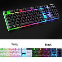 Hot selling computador teclado backlight jogo tipo mesa doméstica máquina luminescente toque notebook USB teclado mecânico de jogos mecânicos