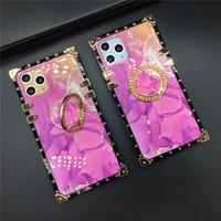 Rosa Moda Marble caixa quadrada telefone para Samsung Galaxy Note 20 Ultra 10 Além disso S8 S9 S10 S20 Além disso J6 A71 A20 A50 A70 A51 A81 tampa do telefone