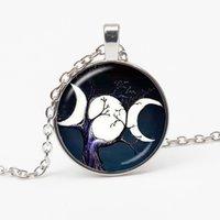 Кулон ожерелья в тройную луну богиня колдовство пентаграмма магия амулет ожерелье женщина ретро ювелирные изделия подарок семья