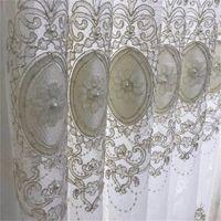 Perle luxe et velours brodé Tulle Rideau pour Salon Chambre à coucher Fenêtre écran personnalisé européen Royal Home Décor ZH033 # 4