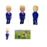 Donald Trump Parodia di masticazione del cane giocattolo con Squeaker qualità durevole con peluche accenti Fun Intrattenere regalo della novità TRASPORTO MARITTIMO CCA12554