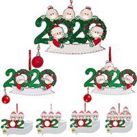 2021 Quarantine Decorazioni natalizie Compleanno Giocattoli regalo Giocattoli Appeso Ornamento con maschere Face Survivor Family PVC in magazzino