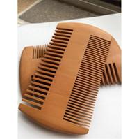 Grosso Madeira Barba Combs Burlywood Dupla Face Hair Care Comb Limite cabeleireiro Styling Escova de bolso Barber Household 1 85my F2
