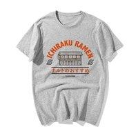 Забавный Наруто японского аниме футболка Мода Наруто Узумаки Ichiraku Ramen Печать Tshirt Мужчины Лето Хлопок Hip Hop МАЙКИ
