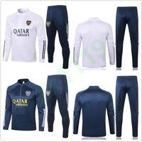 Futebol de 20 21 Boca Juniors mangas compridas Homens Treino agasalho completa de Formação de Futebol da luva Suit 2020 2021 Boca camisola e das calças Sets