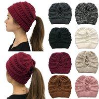 Femmes Bonnet tricoté crochet bonnets d'hiver Bonnet Outdoor Ski Cap Bonnet Baggy stretch Chunky Caps Couvre-chef Sea Shipping IIA641