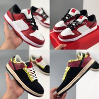 2020 Chicago Dunk Low SB SP Pro Brasil Running Shoes Varsity Red White Men Mulheres Casual skate ao ar livre Esporte Formadores Sneakers