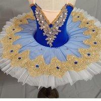 Niños profesionales niños del vestido del tutú de ballet adultos panqueque tutú trajes bailan desgaste del vestido del ballet ropa para niñas