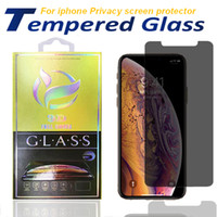 Datenschutz-Bildschirmschutzfolie für iPhone 12 11 pro xs max x x x 8 gehärtetes Glas mit Papierkasten