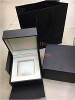 Lusso scatole di cuoio da polso scatola originale Cartine Carta di borsa per Calibro 16 17RS 36RS Aquaracer Chronograph Orologi