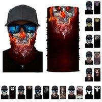 Reit Kopftuch Schädel-förmige Maske multifunktionales magische Maske um warme Requisiten nahtlose Halloween Kopftuch T3I51128 gewickelt