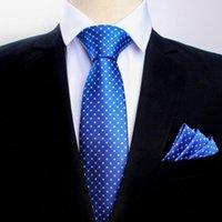 Linbaiway كلاسيك للرجال بيزلي زهرة العلاقات الجيب مجموعة منشفة 8.5CM الأعمال البوليستر ربطة العنق منديل البدلة LOGO مجموعة مخصص