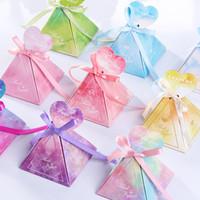 ギフトラップ10個の結婚式の婚約キャンディーボックス記念日バレンタインデーの板紙箱カラフルなパーティーの好意