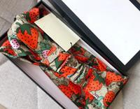 Diseñador de seda elástica mujer diademas de moda chicas fresas fresas bandas de pelo bufanda headwrap accesorios de pelo regalos dropship