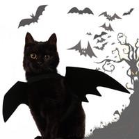 كلب هالوين أجنحة الخفافيش الحيوانات الأليفة ملابس القط ملابس الكلب أجنحة زينة حلي حزب تأثيري لمجموعات الكلب الأسود تأثيري