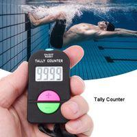 El Dijital Tally Sayaç Siyah Elektronik Karşı Ekleme Veya Top Sporları Yüzme Gym Koşu İçin Koşu Manuel Clicker çıkart