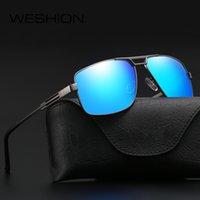 WESHION Vintage Güneş gözlüğü Erkekler Polarize 2020 Tasarımcı Pilot Orta Boy Shades Güneş Gözlükleri UV400 Zonnebril Mannen