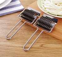 Stainless Steel Noodle Lattice Roller Shallot Cutter Pasta Spaghetti Maker Machines Manual Dough Press Cooking Tools SN3362