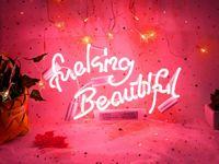علامات النيون سخيف جميل الوردي ضوء النيون ل جدار ديكور نوم علامات الجدار شنقا الكلمات النيون مخصصة
