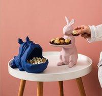 Dökme Gıda Saklama Seramik sevimli hayvan modelleme yaratıcı sundurma depolama süsler Nordic salon ev dekorasyon anahtar saklama