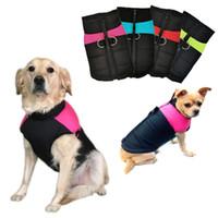 Winter warm Hundekleidung wasserdichte Haustiere gepolstert Weste Jacke Reißverschluss Mantel für kleine mittelgroße Hunde Chihuahua Mops Ropa Para Perros
