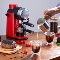 edoolffe 에스프레소 머신 내장 된 우유 스파우트 5Bar 펌프 시스템 커피 메이커 800W 커피 머신 우유 거품 발생 220-240V 50HZ