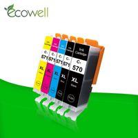 Ecowell PGI570 PGI570 570XL Ink IGP cartucho 570 CLI-571 compatível para Canon PIXMA MG5750 MG5751 MG5752 MG5753 MG6850 MG6851
