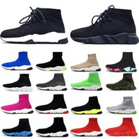 Vente Hot Socks mode Casual Chaussures High Top Noir Blanc Rose Hommes Femmes Chaussures plates Low Top Sneakers Red Brown 36-45 avec la boîte