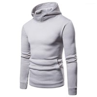 Long Sleeved Clothes for Hommes Mens Solid Hoodies Spring Autumn Male Casual Sweatshirts Tops