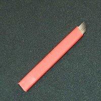 Aghi per tatuaggi 200 pezzi Microblading Blade 12 flex 0.18mm Trucco permanente Ricamo per il sopracciglio per TOBIRI Penna manuale