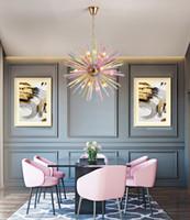 Nordic бар роскошный LED хрустальная люстра современная детская комната магазин одежды украшения цвета ресторан люстры освещение