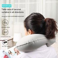Ergonomic Camping U Shaped Car Neck Support Head Rest Bedding Self Inflatable Office Portable Travel Pillow Air Cushion Sleeping