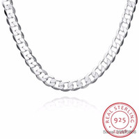 SMTCAT Men' s 925 Sterling Silver Curb Chain Statement N...
