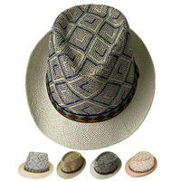 봄 여름 남성 여성 태양 모자 패션 통기성 포장 비치 모자 재즈 모자 벨트 밀짚 모자 페도라 모자