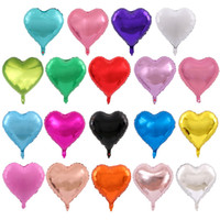"18"" Forma Inch Hear Foil Palloncino 18 colori Baby Room amanti Wedding Birthday Party Decoration Air Balloons inflazione"