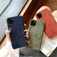 Solid Color Suede Cloth Case For iPhone 12 11 Pro Max XS X XR 6 S 6S 7 8 Plus Soft Silicone Slim Warm Plush Furry Fabric Back Cover