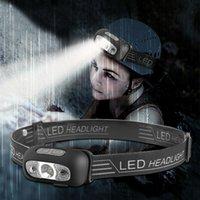 Фары 5 режимов водонепроницаемый USB аккумуляторные светодиодные фар фар головной фонарик факел фонарик для наружного