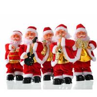 Электрический Сант-Клаус Xmas Пение Танцы саксофон игрушка кукла Дети Новогодний подарок Главные Обои для рабочего Украшение EEA2024