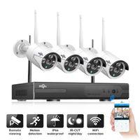 أنظمة Hiseeu 8CH 1080P اللاسلكية NVR كيت 2MP الأمن في الهواء الطلق الوصول عن بعد كاميرا IP P2P CCTV كاميرات مراقبة الفيديو مجموعة