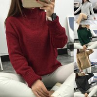 JAYCOSIN Automne Hiver manches longues femmes Sweat Harajuku Couleur Hatless Jumper Pull pur Tops haut style coréen Sweat