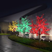 Decoraciones navideñas LED Cerezo artificial Flor de cerezo Luz 1248PCS Bulbos 2M / 6.5FT Altura 110 / 220Vac Uso al aire libre a prueba de lluvia