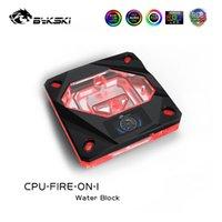 팬 냉각 Bykski CPU 워터 블록 2011 (x99) 2066 115x (1150 1151 1155 1156) LCD 온도 CPU-Fire-on-i가있는 인텔 플랫폼
