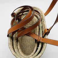 Gran capacidad de la bolsa de asas de paja tejida 2019 popular estupendo bolso de la cesta de playa del verano bolsa de paja de las mujeres bolsos de viaje de compras de paquetes
